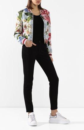 Женская шелковый пуловер DOLCE & GABBANA черного цвета, арт. FX803T/JASMH | Фото 2