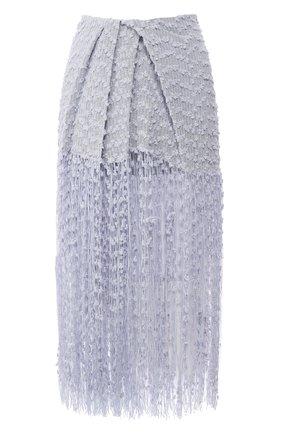 Женская юбка-миди JACQUEMUS голубого цвета, арт. 201SK06/26334 | Фото 1