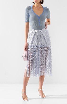 Женская юбка-миди JACQUEMUS голубого цвета, арт. 201SK06/26334 | Фото 2