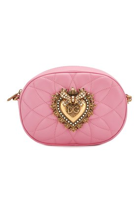 Женская сумка devotion DOLCE & GABBANA розового цвета, арт. BB6704/AV967 | Фото 1