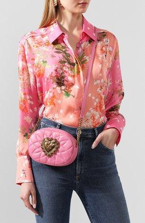Женская сумка devotion DOLCE & GABBANA розового цвета, арт. BB6704/AV967 | Фото 2
