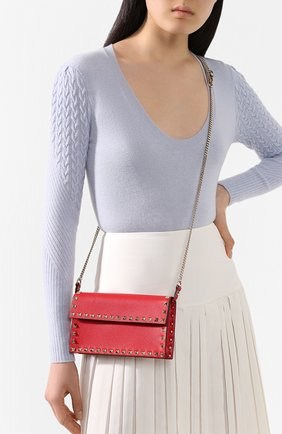 Женская сумка valentino garavani rockstud VALENTINO красного цвета, арт. TW2P0T37/VSH | Фото 2