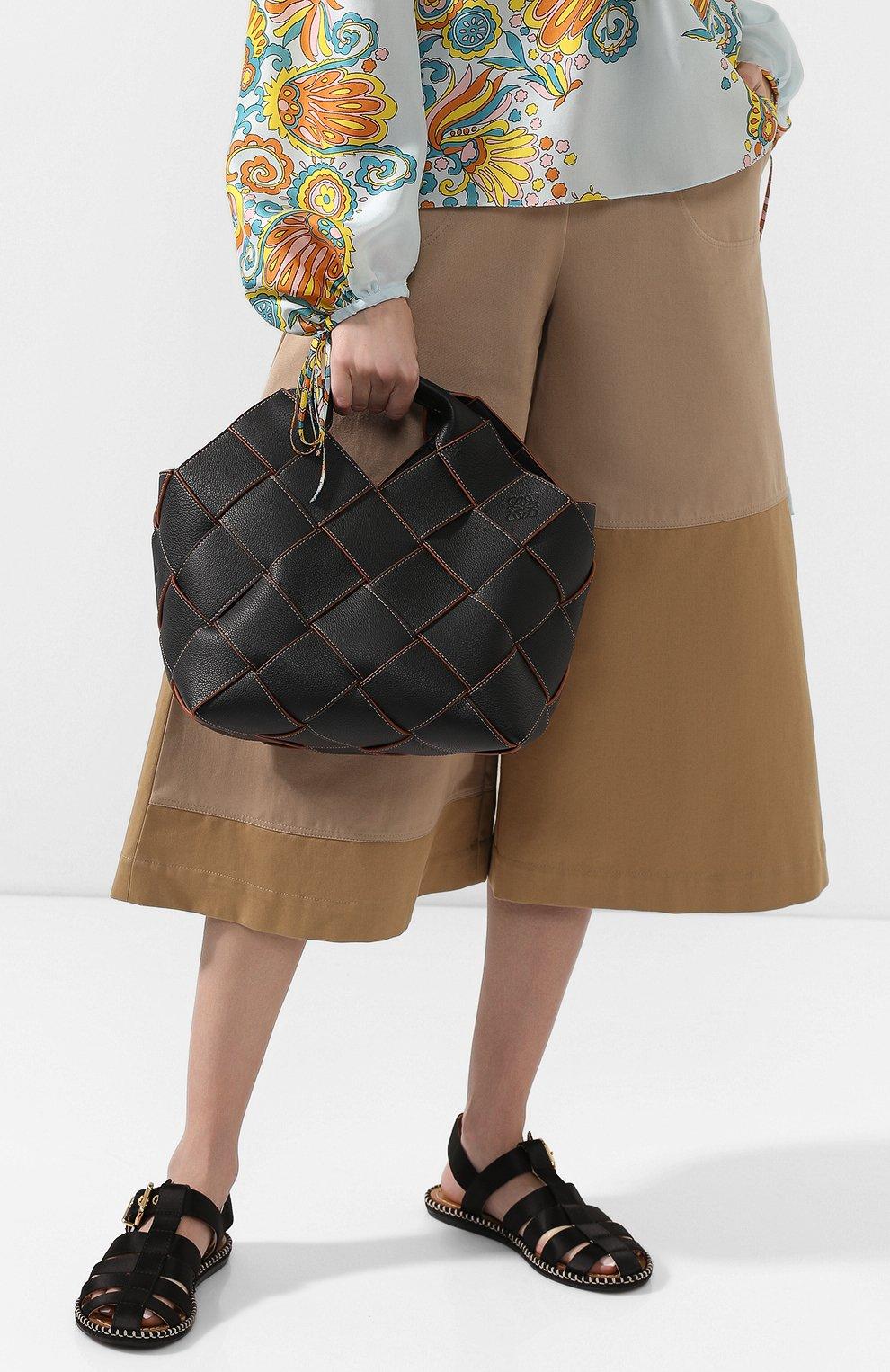 Женская сумка woven LOEWE черного цвета, арт. 321.12.L62 | Фото 2