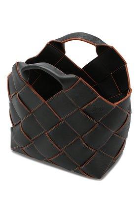 Женская сумка woven LOEWE черного цвета, арт. 321.12.L62 | Фото 4