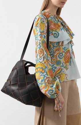 Женская сумка woven LOEWE черного цвета, арт. 321.12.L62 | Фото 5