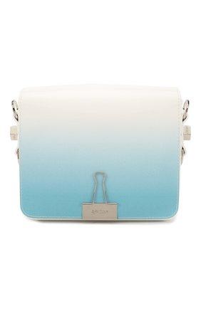 Женская сумка flap OFF-WHITE голубого цвета, арт. 0WNA011R20G990683100 | Фото 1