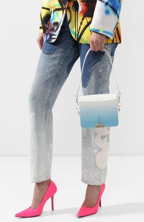 Женская сумка flap OFF-WHITE голубого цвета, арт. 0WNA011R20G990683100 | Фото 2