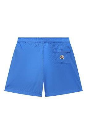 Детские плавки-шорты MONCLER голубого цвета, арт. F1-954-2C702-20-53326/8-10A | Фото 2