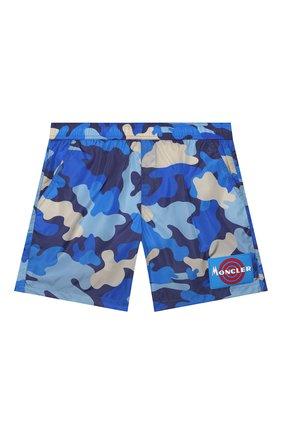 Детские плавки-шорты MONCLER синего цвета, арт. F1-954-2C711-20-539UZ/8-10A | Фото 1