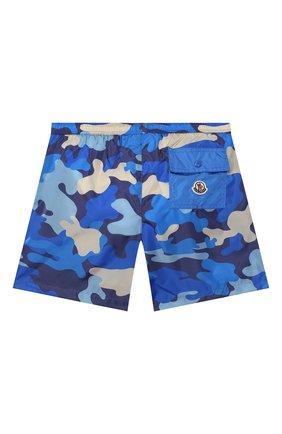 Детские плавки-шорты MONCLER синего цвета, арт. F1-954-2C711-20-539UZ/8-10A | Фото 2