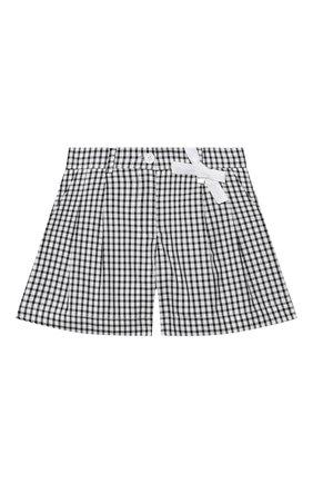 Детские хлопковые шорты SIMONETTA черно-белого цвета, арт. 1M6059/MC370/1-4 | Фото 1