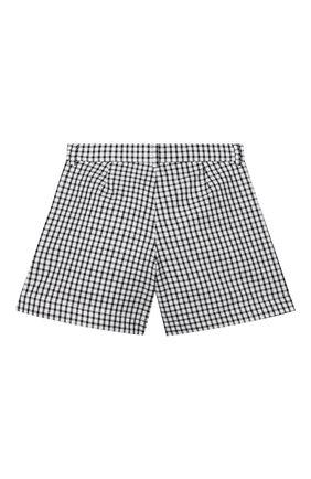 Детские хлопковые шорты SIMONETTA черно-белого цвета, арт. 1M6059/MC370/1-4 | Фото 2