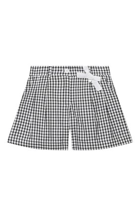 Детские хлопковые шорты SIMONETTA черно-белого цвета, арт. 1M6059/MC370/5-8 | Фото 1