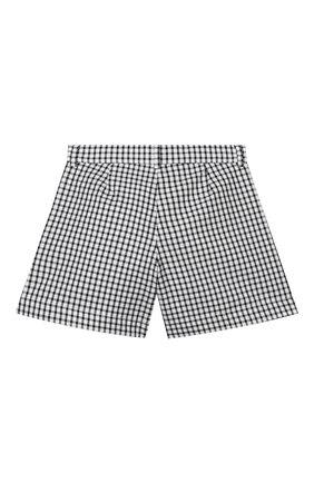 Детские хлопковые шорты SIMONETTA черно-белого цвета, арт. 1M6059/MC370/5-8 | Фото 2