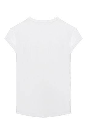 Детская хлопковая футболка BRUNELLO CUCINELLI белого цвета, арт. B0045T021C | Фото 2