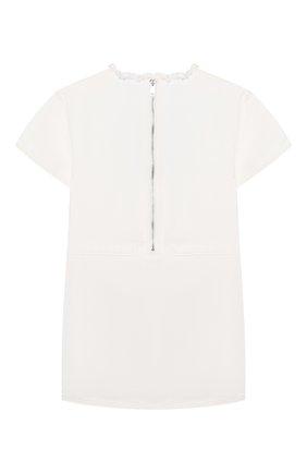 Детское хлопковое платье BURBERRY белого цвета, арт. 8024771   Фото 2