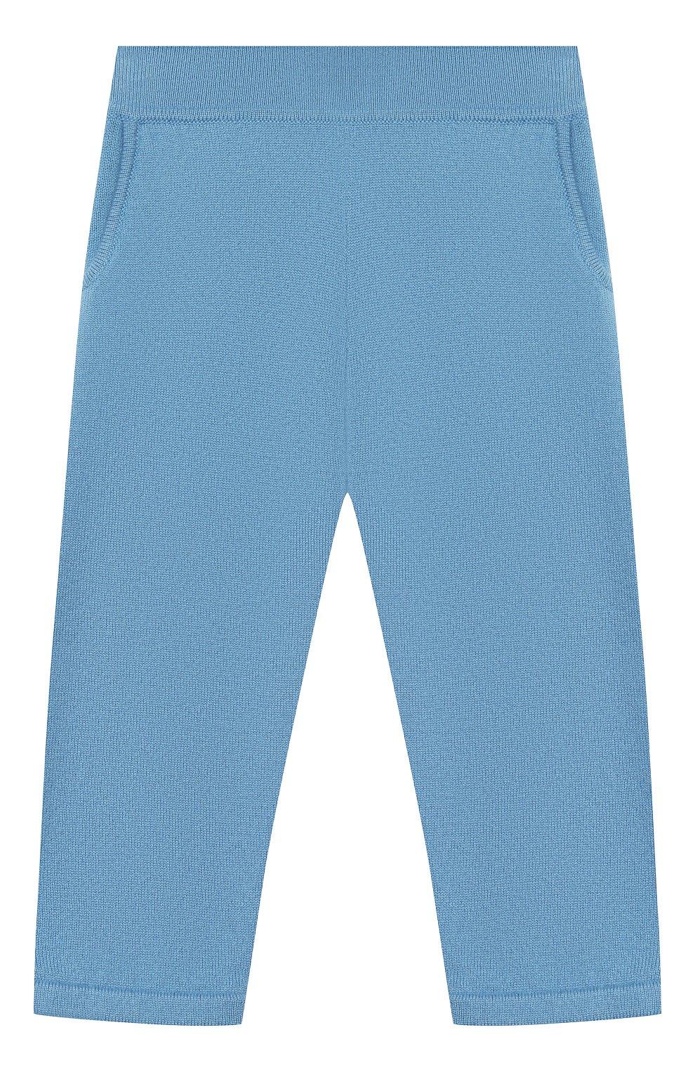 Детские кашемировые брюки LORO PIANA голубого цвета, арт. FAI0797 | Фото 1