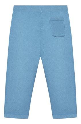 Детские кашемировые брюки LORO PIANA голубого цвета, арт. FAI0797 | Фото 2