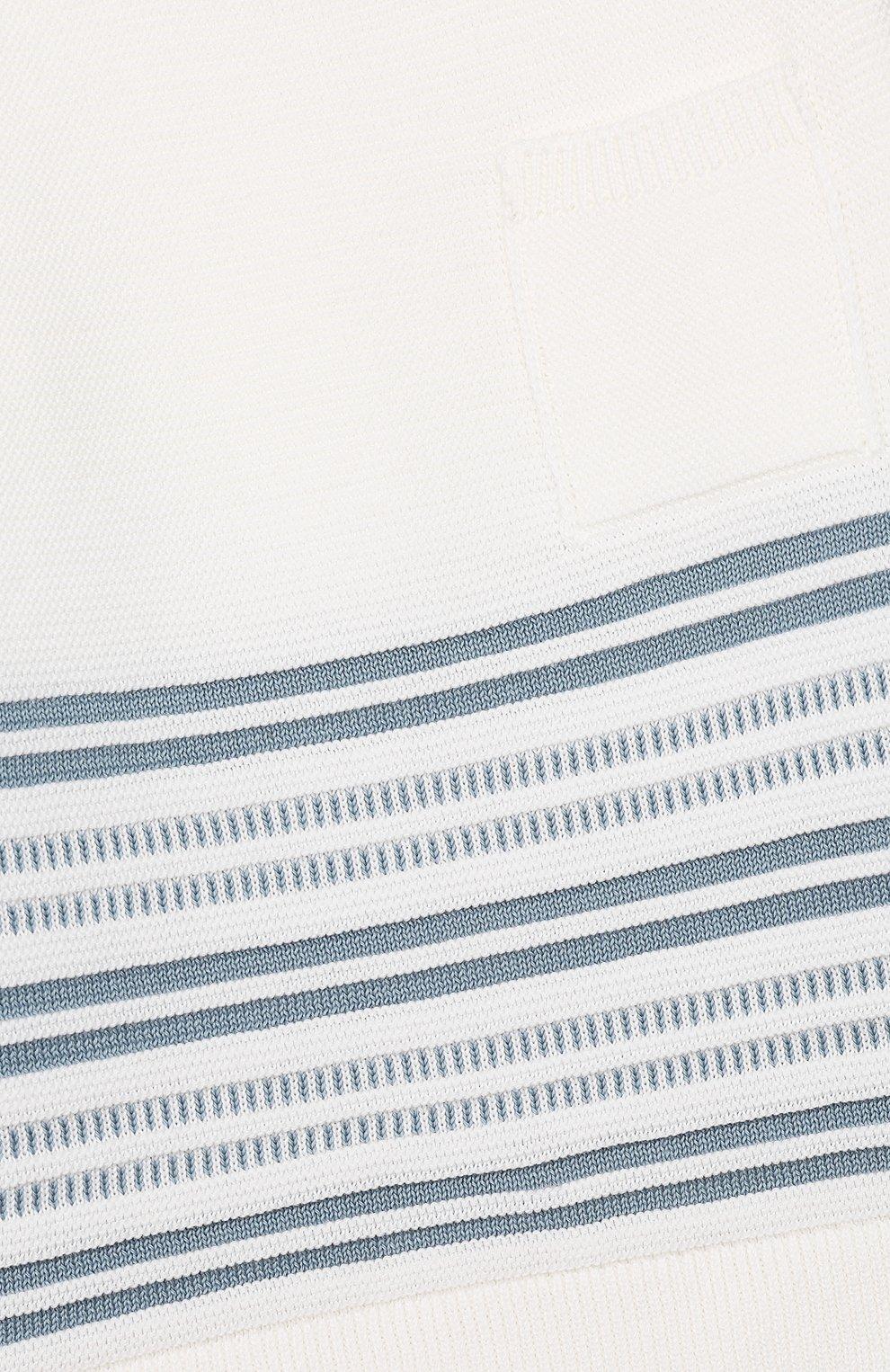Детский хлопковый пуловер LORO PIANA голубого цвета, арт. FAI9468 | Фото 3