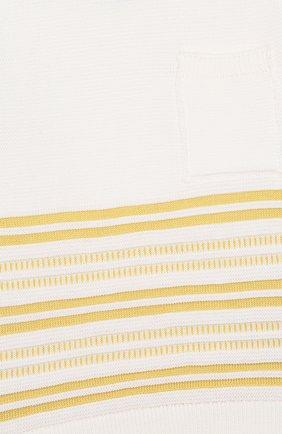 Детский хлопковый пуловер LORO PIANA желтого цвета, арт. FAI9468 | Фото 3