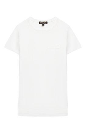 Детская льняная футболка LORO PIANA белого цвета, арт. FAI9670 | Фото 1