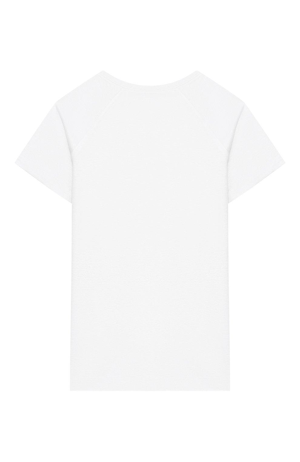 Детская льняная футболка LORO PIANA белого цвета, арт. FAI9671   Фото 2