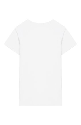 Детская льняная футболка LORO PIANA белого цвета, арт. FAI9671 | Фото 2