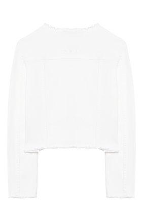 Детская джинсовая куртка TWINSET белого цвета, арт. 201GJ2032/12A-16A | Фото 2