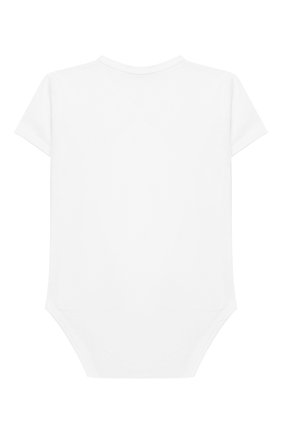 Детское хлопковое боди LA PERLA белого цвета, арт. 73081 | Фото 2