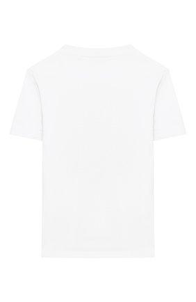 Детская хлопковая футболка LA PERLA белого цвета, арт. 77154/2A-6A | Фото 2