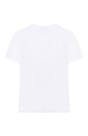 Детская хлопковая футболка LA PERLA белого цвета, арт. 77224/2A-6A | Фото 2