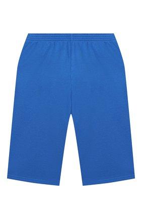 Детские хлопковые шорты BALENCIAGA голубого цвета, арт. 621789/TFV19   Фото 2