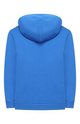 Детский хлопковое худи BALENCIAGA голубого цвета, арт. 558143/TFV19 | Фото 2