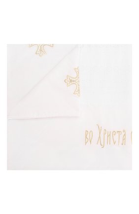 Детского крестильное полотенце елицы CHEPE белого цвета, арт. 071149   Фото 1
