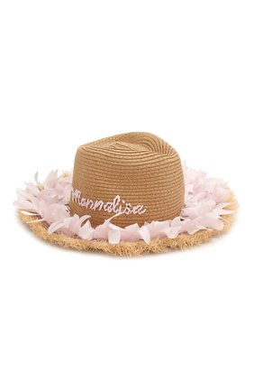 Детская шляпа MONNALISA розового цвета, арт. 995041 | Фото 1