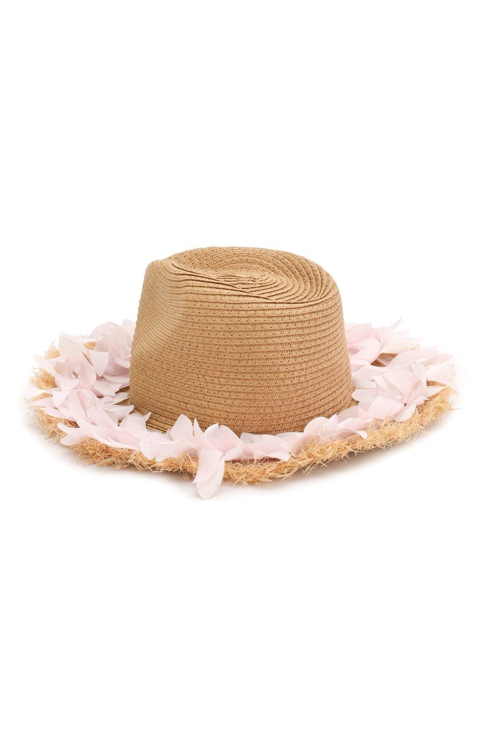 Детская шляпа MONNALISA розового цвета, арт. 995041   Фото 2
