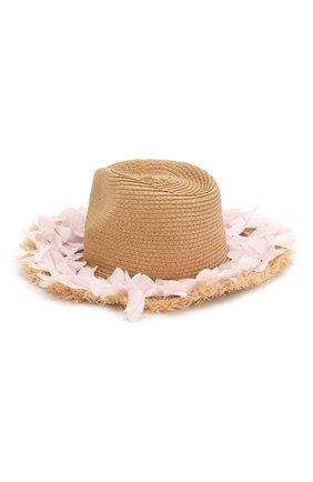 Детская шляпа MONNALISA розового цвета, арт. 995041 | Фото 2