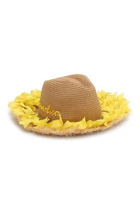 Детская шляпа MONNALISA желтого цвета, арт. 995041 | Фото 1