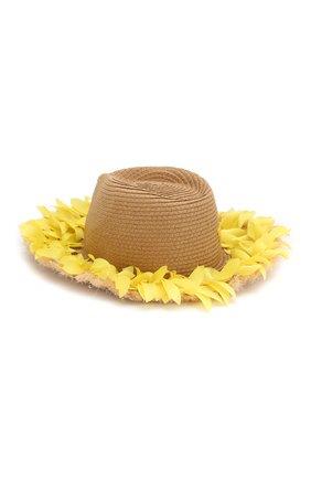 Детская шляпа MONNALISA желтого цвета, арт. 995041 | Фото 2