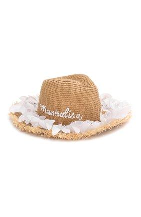 Детская шляпа MONNALISA белого цвета, арт. 995041 | Фото 1