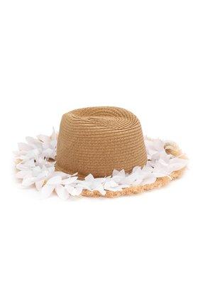 Детская шляпа MONNALISA белого цвета, арт. 995041 | Фото 2