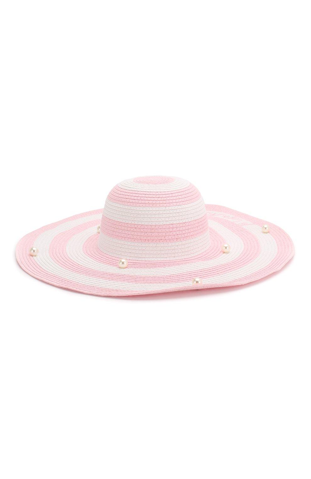Детская шляпа MONNALISA розового цвета, арт. 995032 | Фото 1