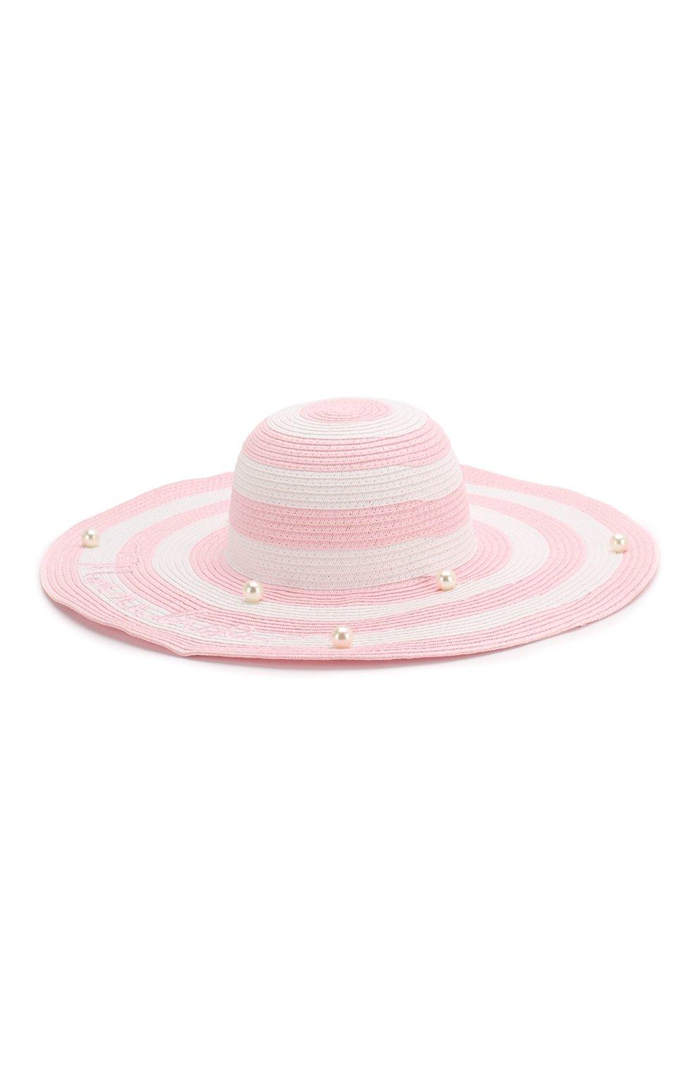 Детская шляпа MONNALISA розового цвета, арт. 995032 | Фото 2