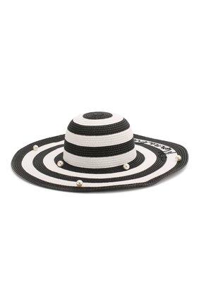 Детская шляпа MONNALISA черно-белого цвета, арт. 995032 | Фото 1