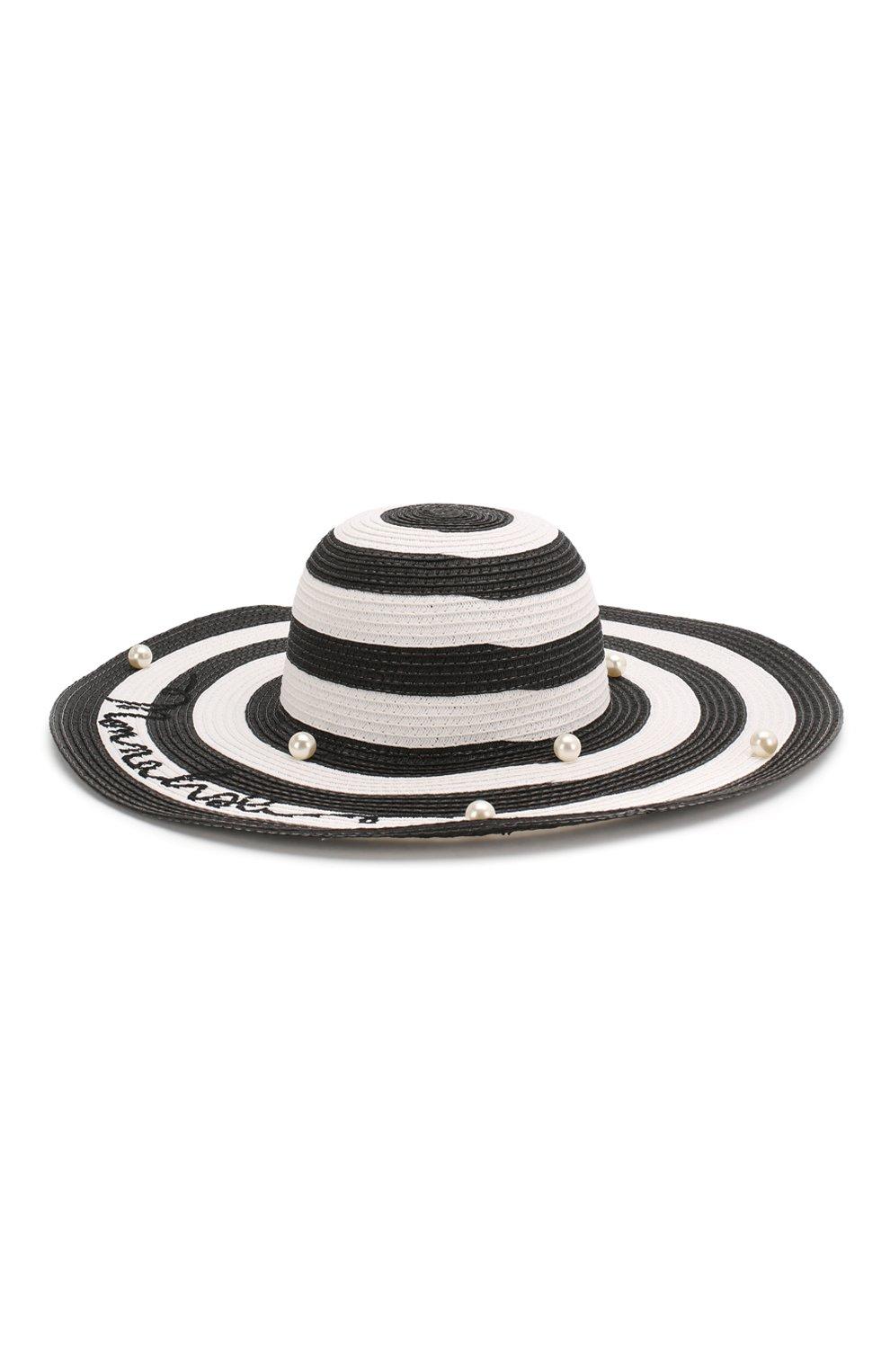 Детская шляпа MONNALISA черно-белого цвета, арт. 995032 | Фото 2