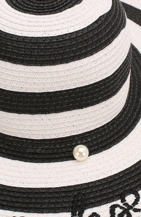 Детская шляпа MONNALISA черно-белого цвета, арт. 995032 | Фото 3