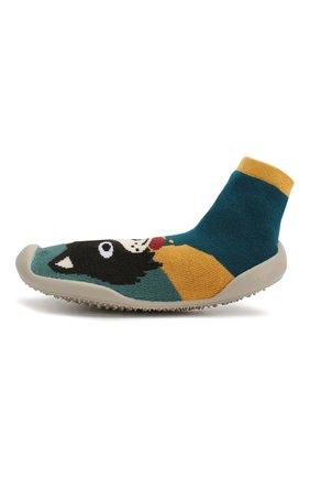 Детского домашняя обувь COLLEGIEN зеленого цвета, арт. 510E/36-39 | Фото 2