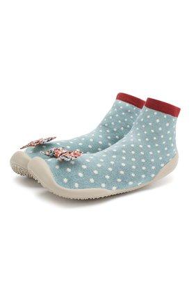 Детского домашняя обувь COLLEGIEN голубого цвета, арт. 510F/36-39 | Фото 1
