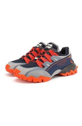 Мужские комбинированные кроссовки valentino garavani climbers VALENTINO разноцветного цвета, арт. TY0S0C20/DRZ | Фото 1