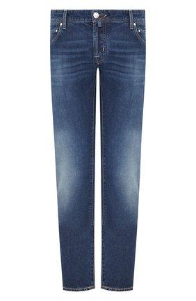 Мужские джинсы JACOB COHEN синего цвета, арт. J622 01868-W1/53 | Фото 1